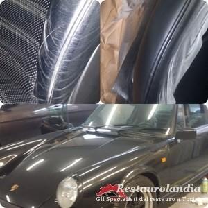rigenerazione pelle dei sedili Porsche