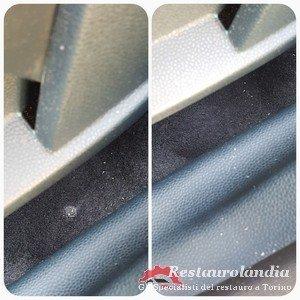 riparazione buco moquette auto