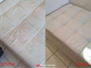 restauro divano in pelle a Torino