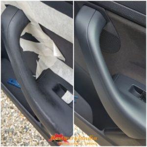riparazione graffi maniglia in plastica portiera sinistra golf