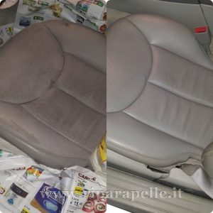 restauro pelle sedile auto