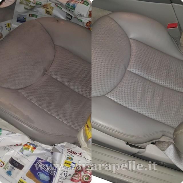 Foto riparazione sedile auto in pelle