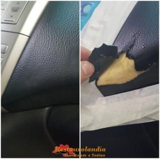 riparazione strappo similpelle cruscotto Lexus