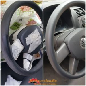 verniciatura volante plastica rovinato Volkswagen