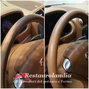 Restauro interni auto: volante auto Porsche