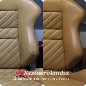 verniciatura sedile auto d'epoca