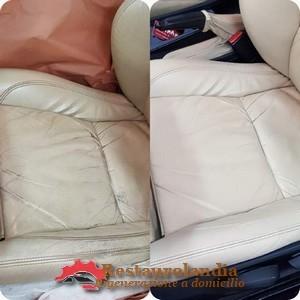 Restauro sedile auto in pelle
