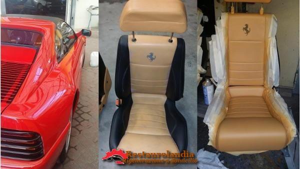 riparazione pelle sedile auto in pelle