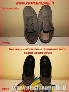 Riparazione accessori pelle scarpe