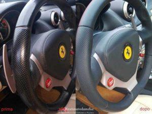Restauro volante pelle Ferrari